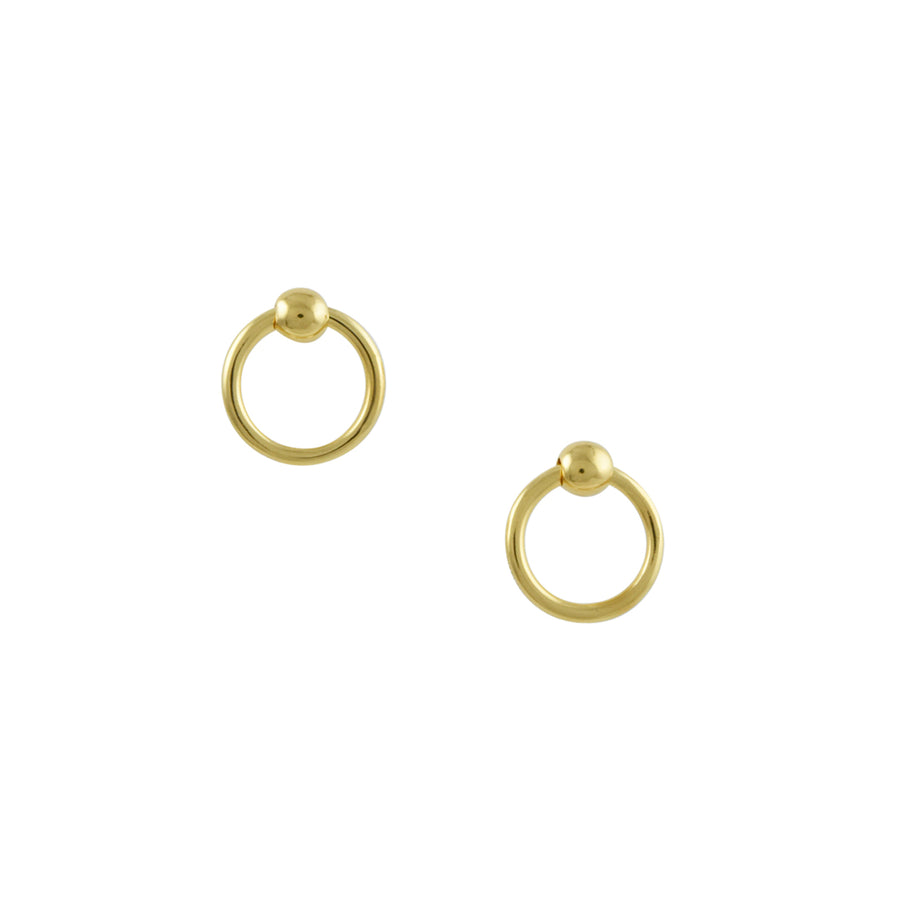 Tashi - Vermeil Doorknocker Stud Earrings