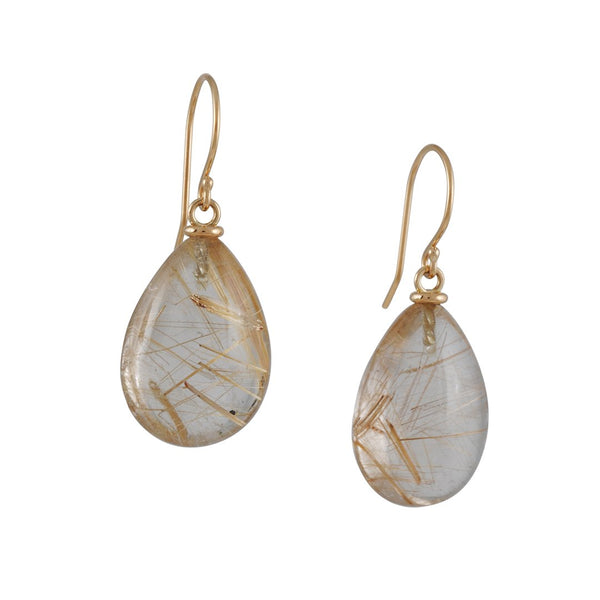 Jamie Joseph - Rutilated Quartz Earrings