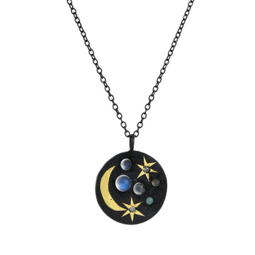 Acanthus - Large Spacescape Pendant Necklace