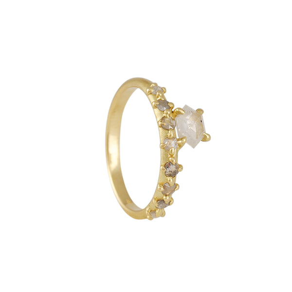 Atelier Narcé - One of a Kind Offset Rose Cut Diamond Ring