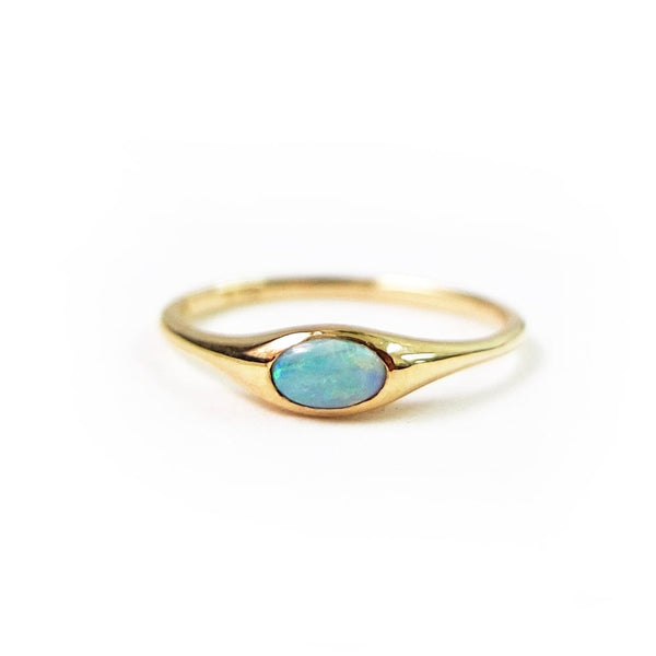 N+A New York - Opal Gypsy Ring, Size 6