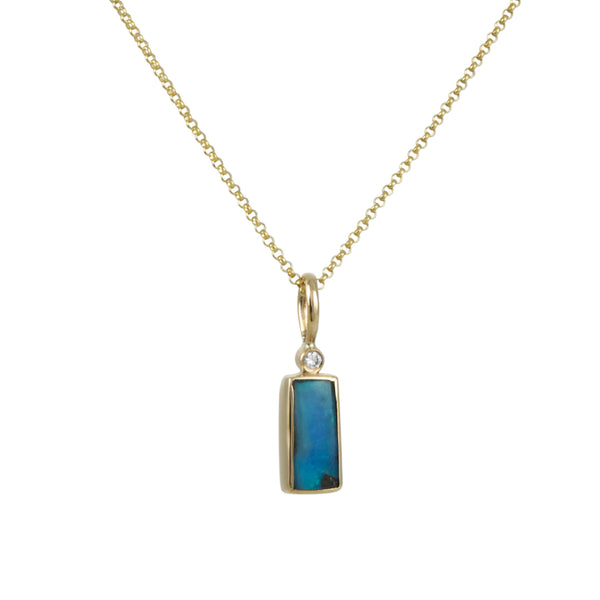 Halcyon - Stargazer Pendant Necklace With Opal and Diamond