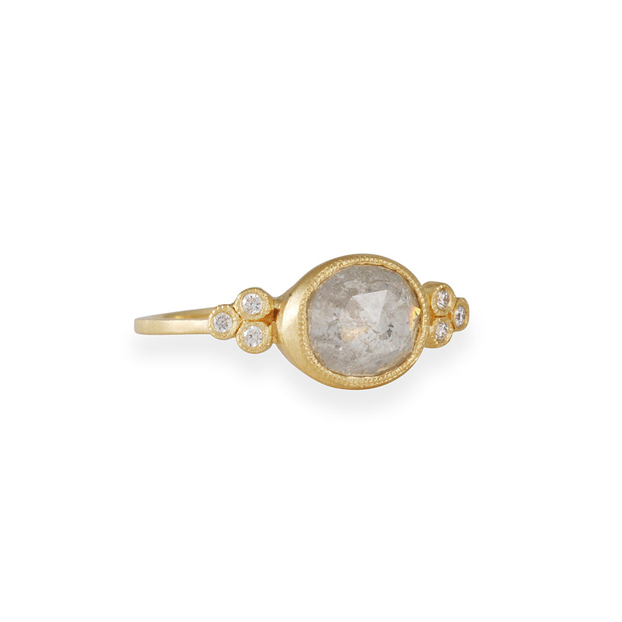 Jennifer Dawes - Raw Diamond Clover Engagement Ring