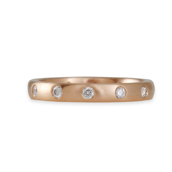 CAROLINE ELLEN- Rose Gold Eternity Band