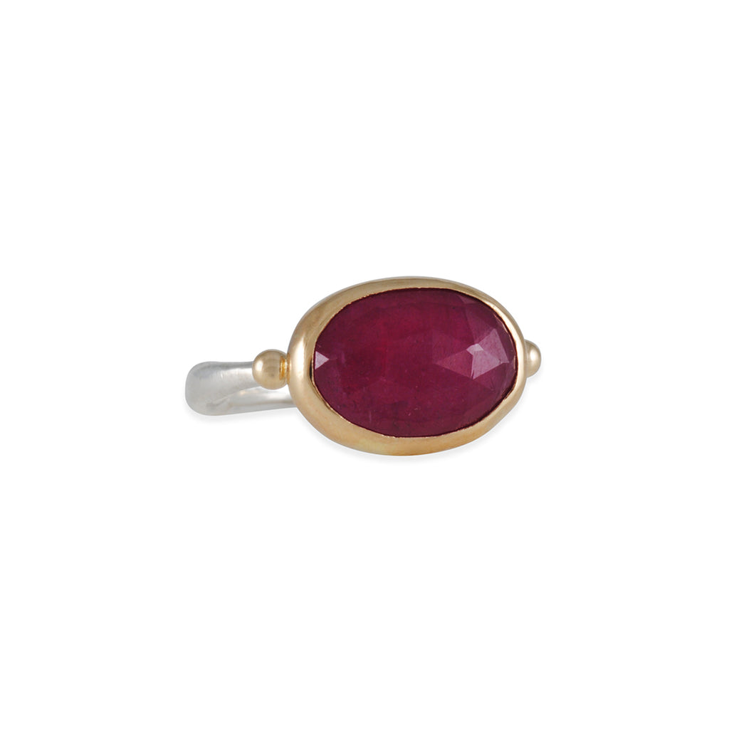 Emily Amey - Horizontal Ruby Ring