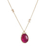 Emily Amey - Oval Ruby Necklace