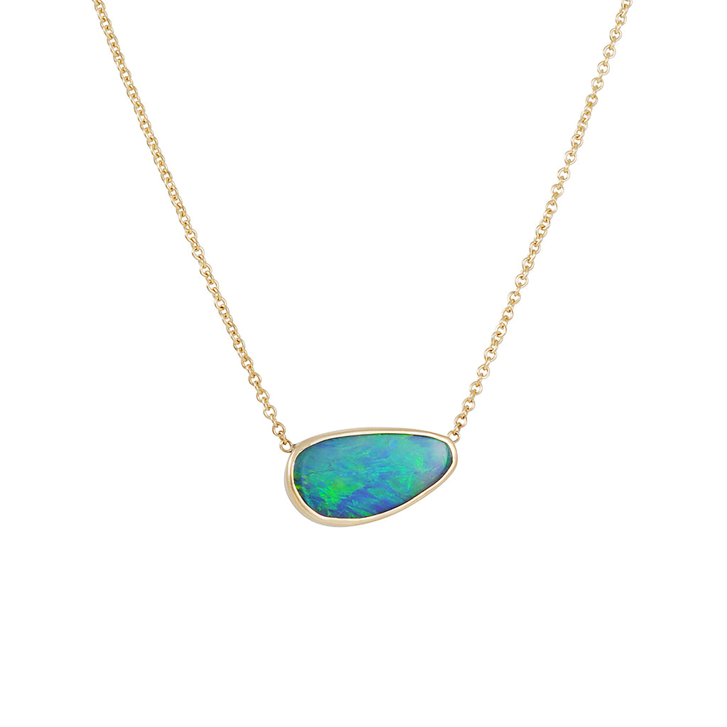 EMILY AMEY - Small One-of-a-Kind Opal Necklace in 14K gold