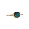 EMILY AMEY - Teal Tourmaline Ring in 14K Gold, Size 7