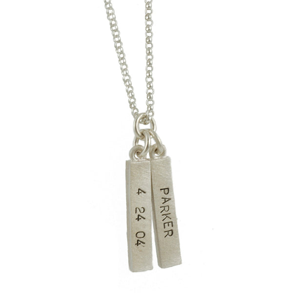 EMILY ROSENFELD- Double Personalized Bar Necklace
