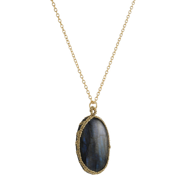 Danielle Welmond - Caged Oval Labrodite Necklace