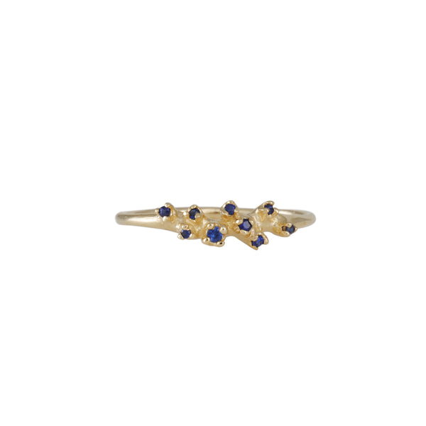 n+a New York - Blue Sapphire Cluster Ring