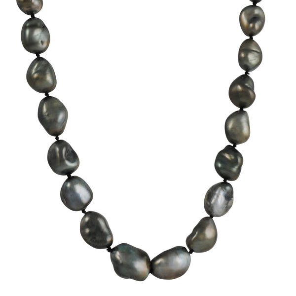 CP Collection - Grey Baroque Pearl Necklace