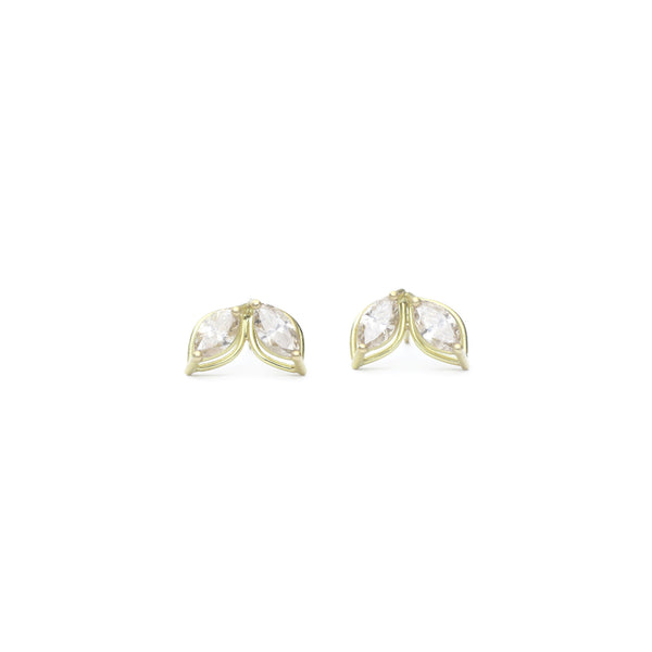 Tura Sugden - Dual Champagne Marquise Diamond Stud Earrings