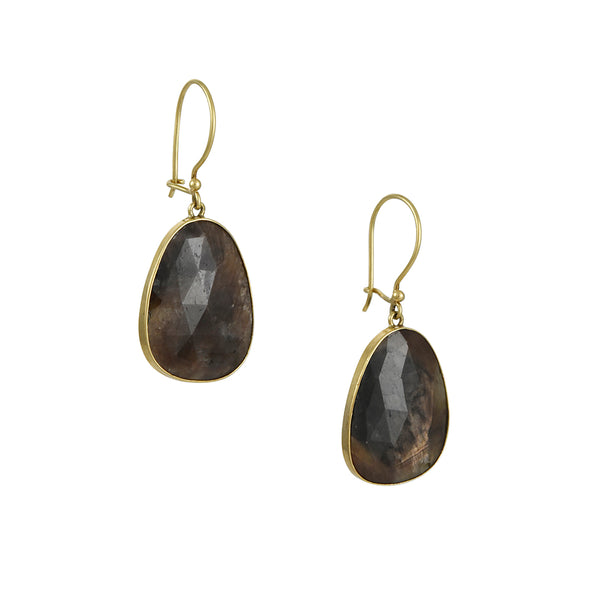 Steven Battelle - Large Organic Spinel Drop Earrings
