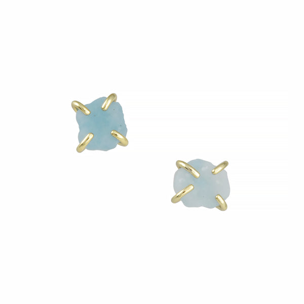 JaxKelly - Prong-Set Amazonite Studs