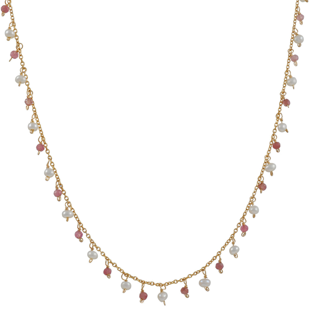Christina Stankard - Pink Tourmaline and Pearl Necklace