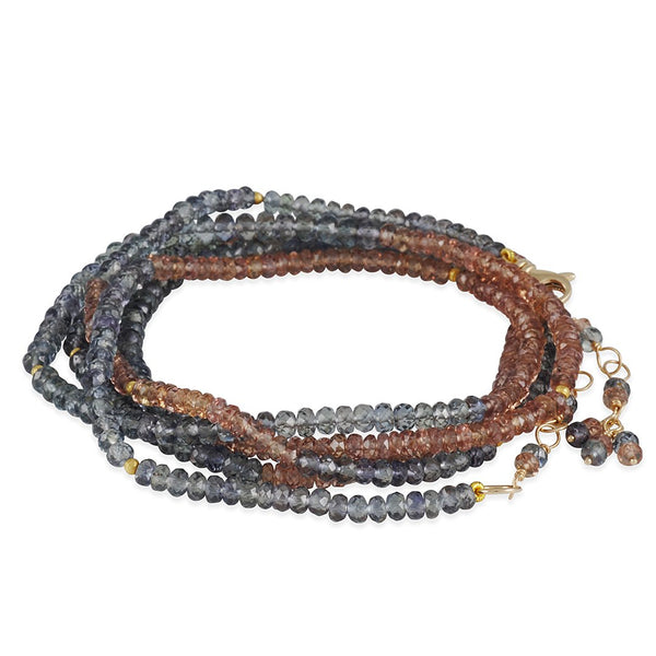 CP Collection - Sapphire Wrap Bracelet and Necklace