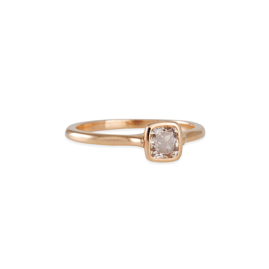 Diana Mitchell - Cathedral Ring with Pink Champagne Diamond
