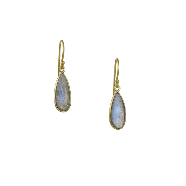 Kothari - Bee's Wings Earrings in Labradorite