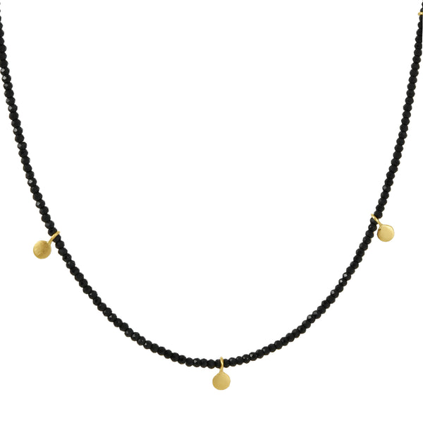 Philippa Roberts - Black Spinel Necklace with Tabs