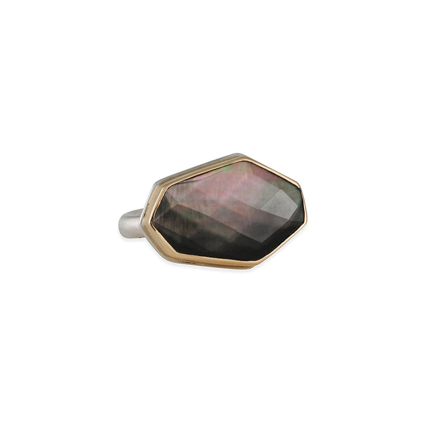 Jamie Joseph - Crystal over Mother of Pearl Ring