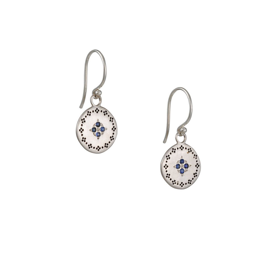 Adel Chefridi - Four Star Earrings with Sapphire