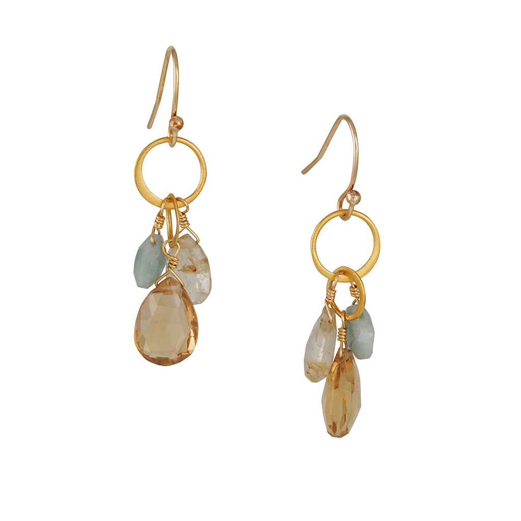 Philippa Roberts - Gem Cluster Earrings