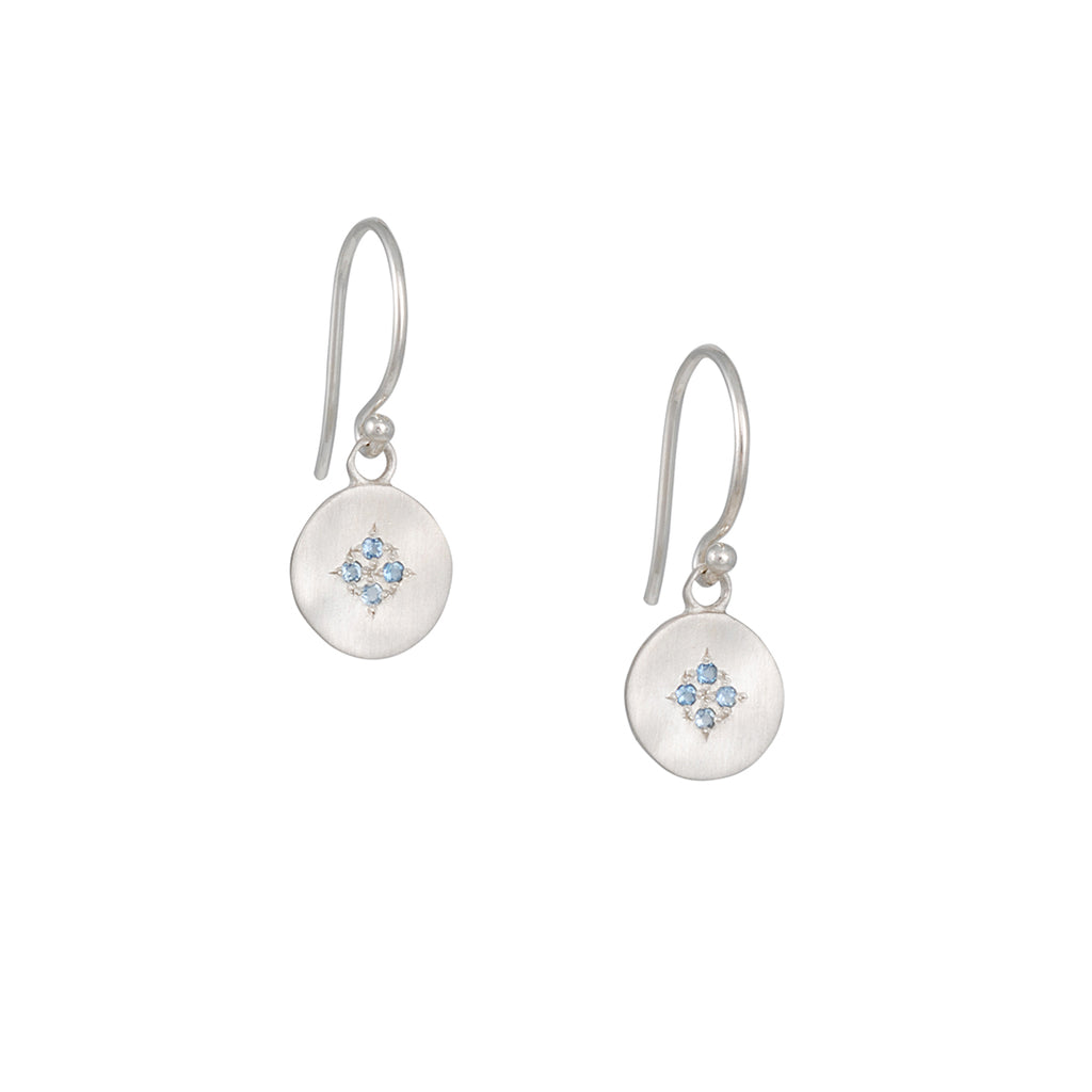 Adel Chefridi - Four Star Wave Earring with Aquamarine