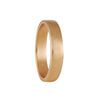 Black Barc - 4mm Squared Wedding band in 14K Rose Gold