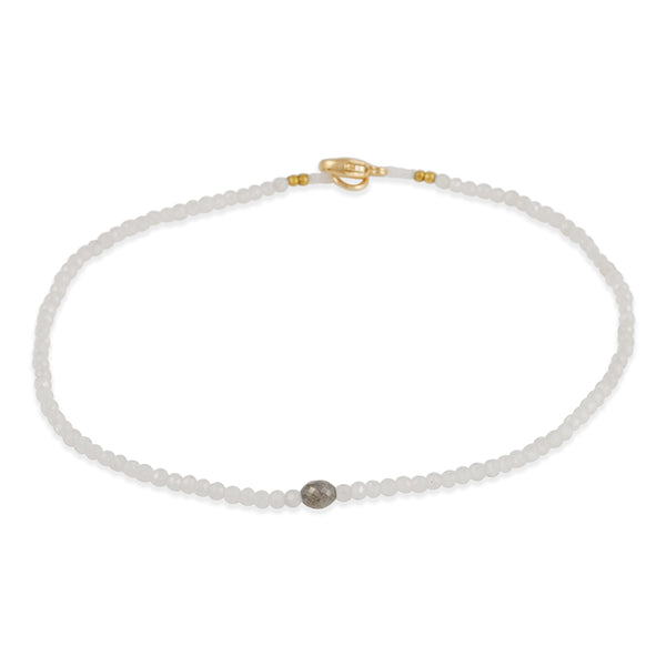 Margaret Solow - Moonstone and Diamond Beaded Bracelet