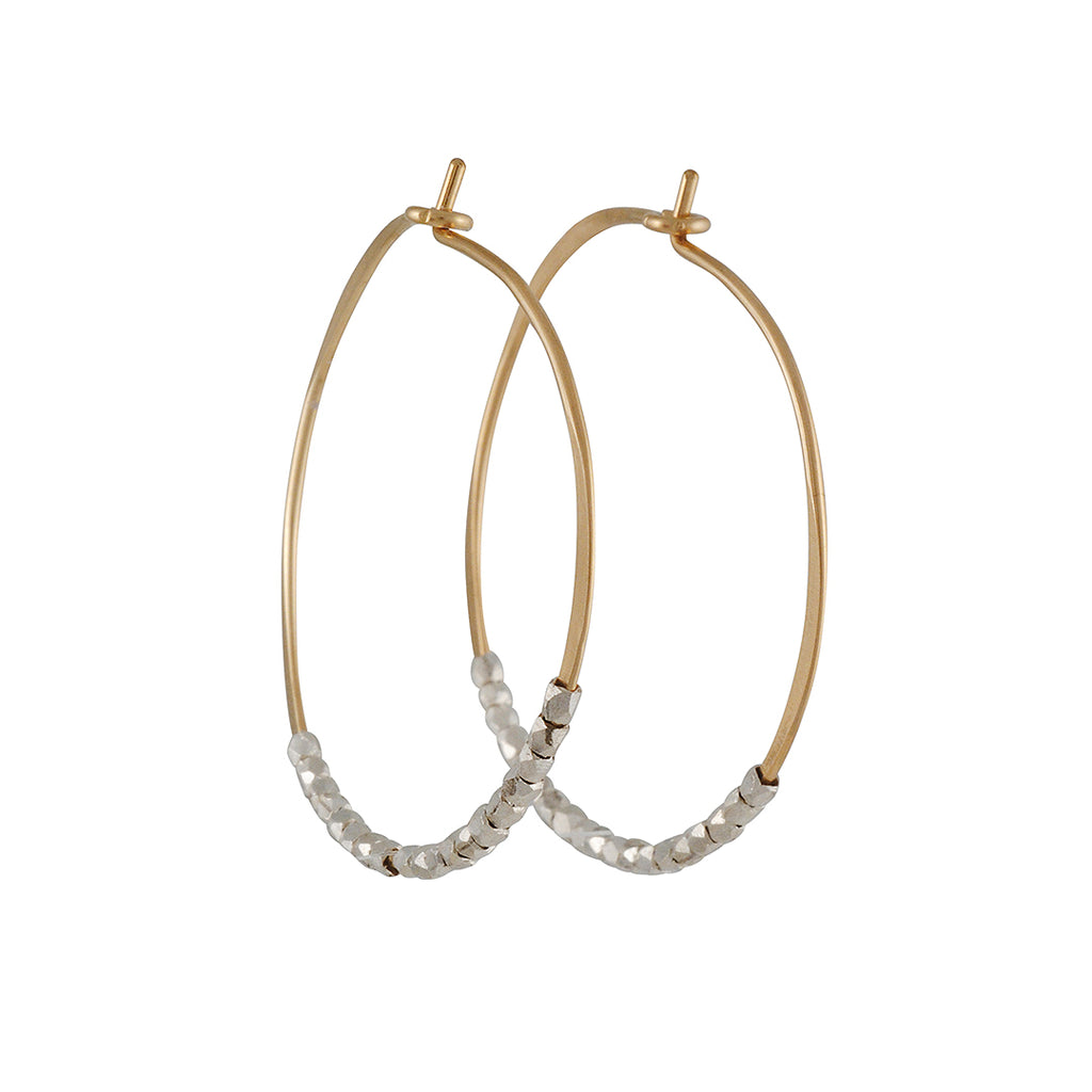 Christine Fail - Medium Beaded Hoops