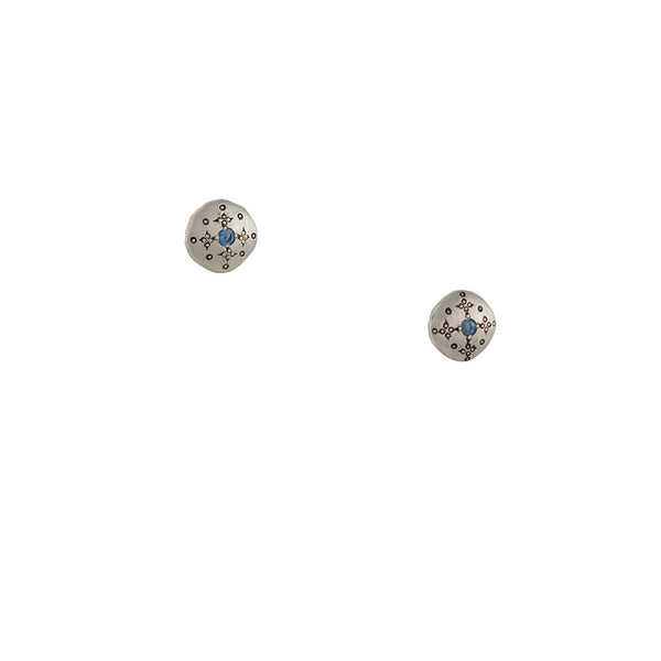 Adel Chefridi - Diamond Silver Lights Stud Earrings