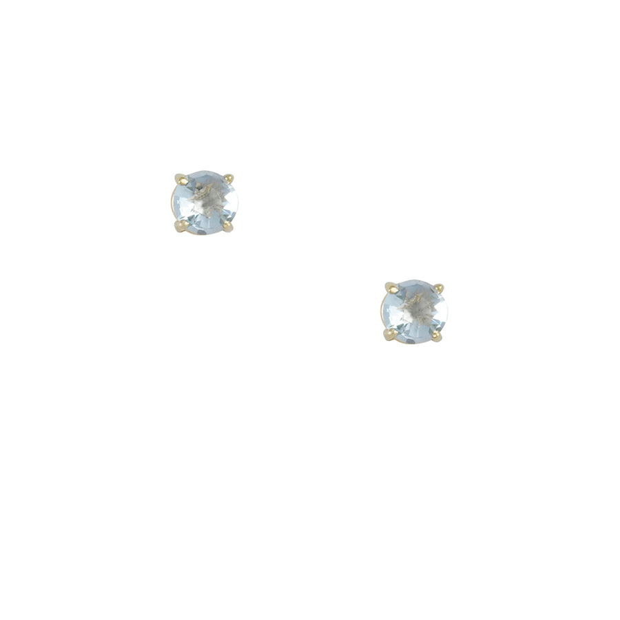 Suzanne Kalan - Round Cushion Cut Swiss Blue Topaz Studs