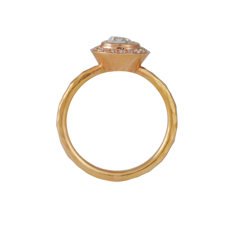 Annie Fensterstock - Rose Cut Halo Solitaire