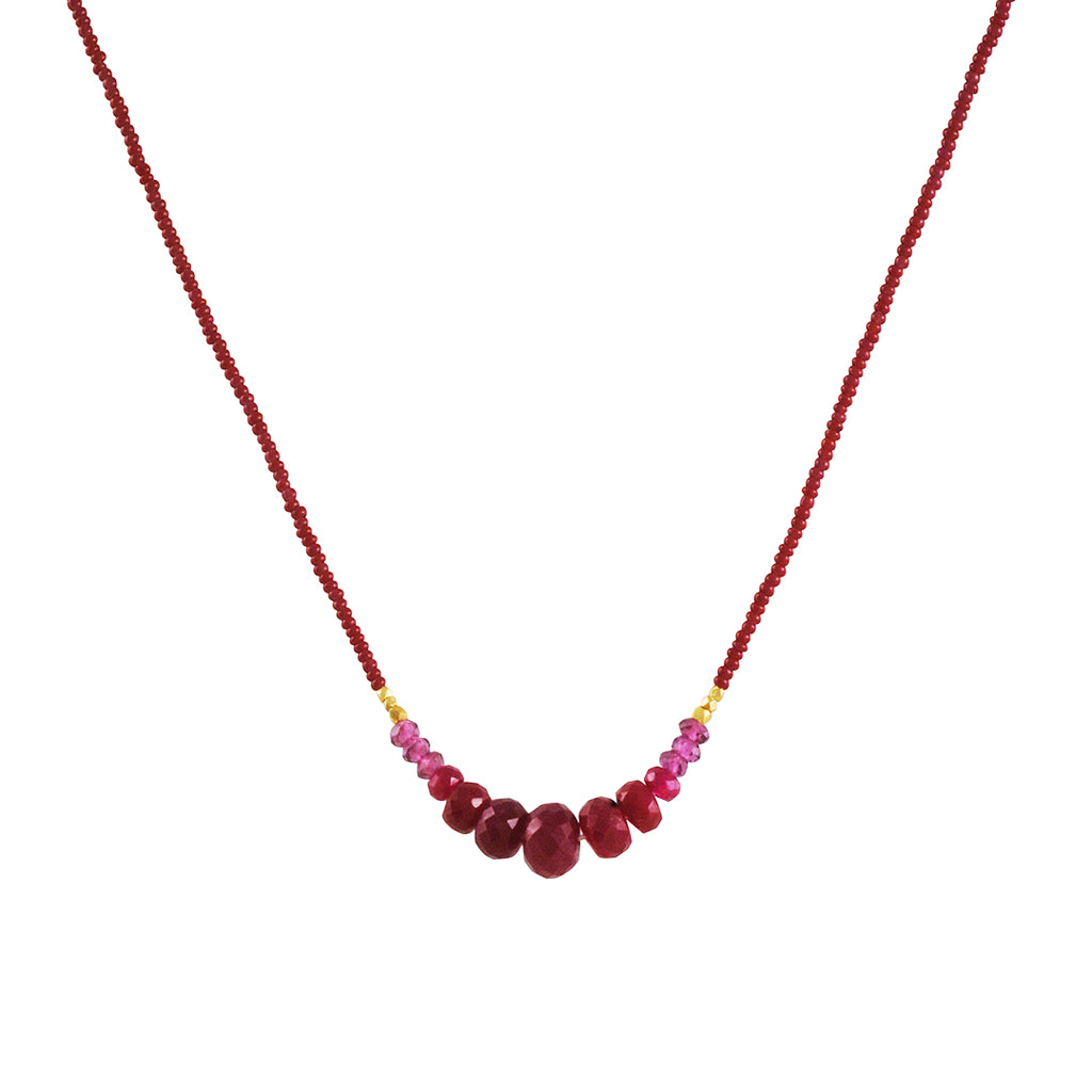 Debbie Fisher - Seed Ruby Necklace