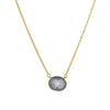 FREIDA ROTHMAN - Two Tone Twisted Bezel Necklace