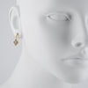 FREIDA ROTHMAN - Contemporary Deco Drop Earrings in Black and Gold Vermeil