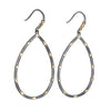 FREIDA ROTHMAN - Open Pear Drop Earrings in Black and Gold Vermeil