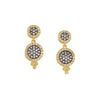 FREIDA ROTHMAN - Pave Double Disc Post Earrings With Swarovski Crystal, Gold Vermeil