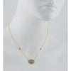 FREIDA ROTHMAN - Pave Oval Station Necklace in Black and Gold Vermeil, 16-18""
