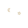 Gilded By Katie Diamond - Star and Moon Studs