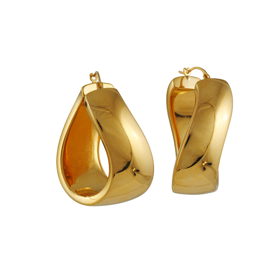 Gold & Honey - Twist Hoop Earrings