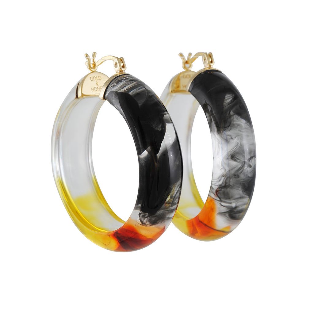 Gold & Honey - Round Ombre Hoops