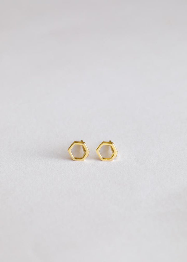 JaxKelly - Minimalist Hexagon Studs