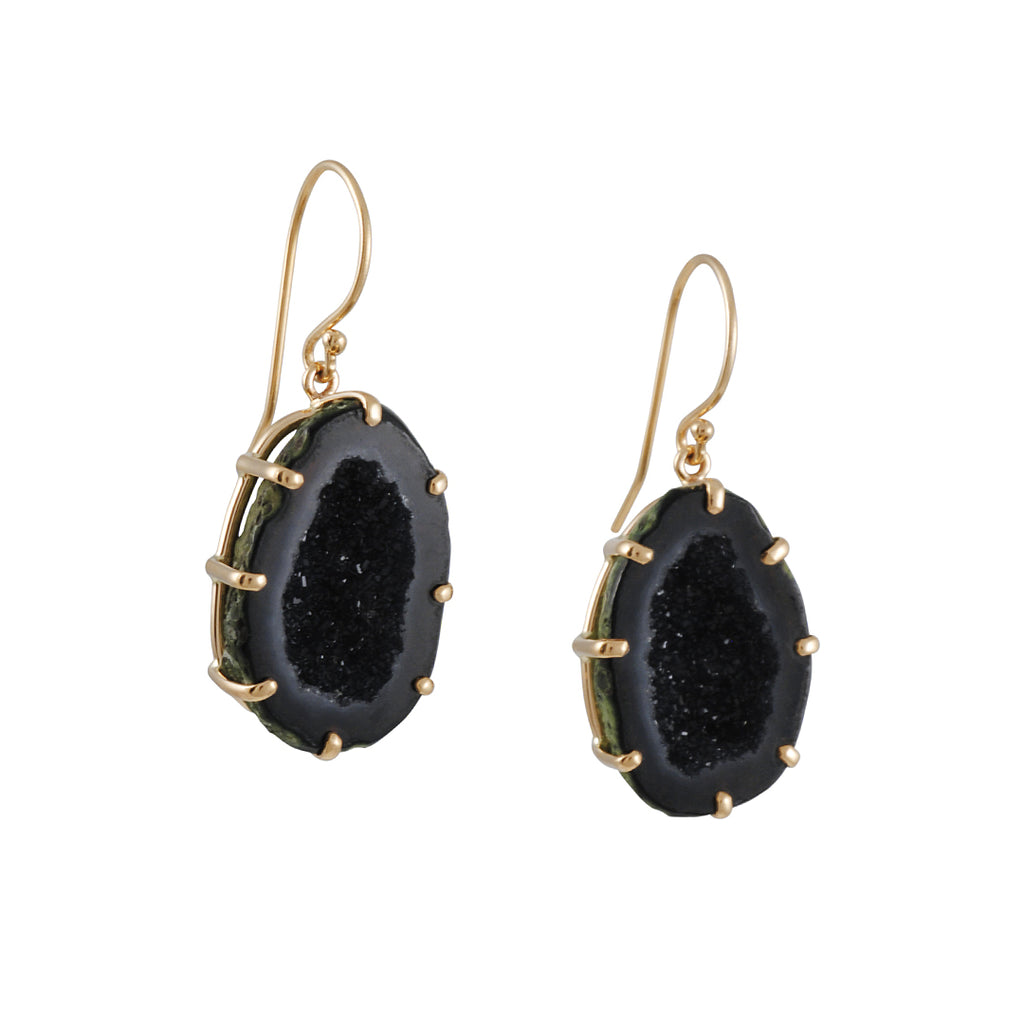 Jamie Joseph - Green Mexico Geode Earrings