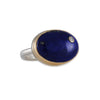 JAMIE JOSEPH - Oval Lapis with Diamond Ring, Size 7