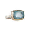 JAMIE JOSEPH -  Rectangular Aquamarine Ring, Size 6