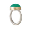 JAMIE JOSEPH -  Smooth Green Chrysoprase Ring, Size 6.75
