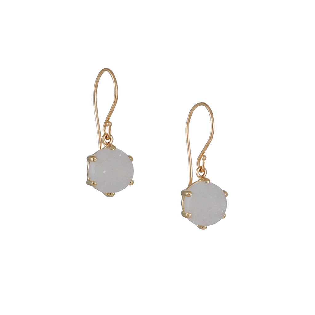 Jamie Joseph - White Druzy Earrings