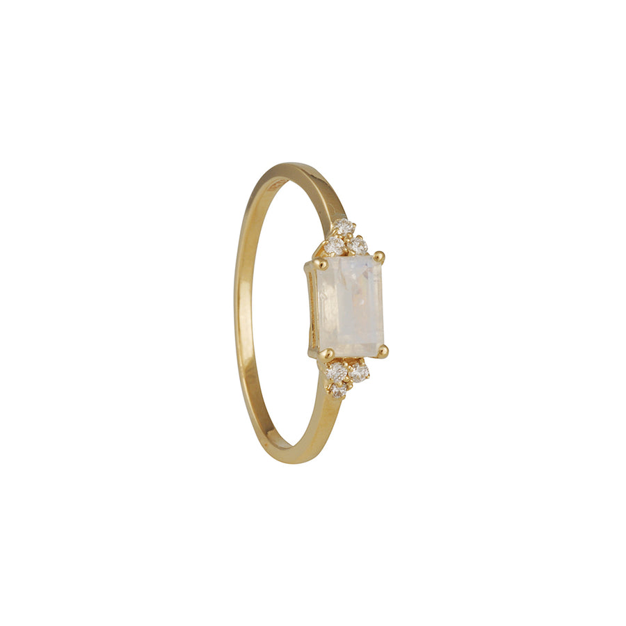 Suzanne Kalan - Emerald Cut Moonstone Ring